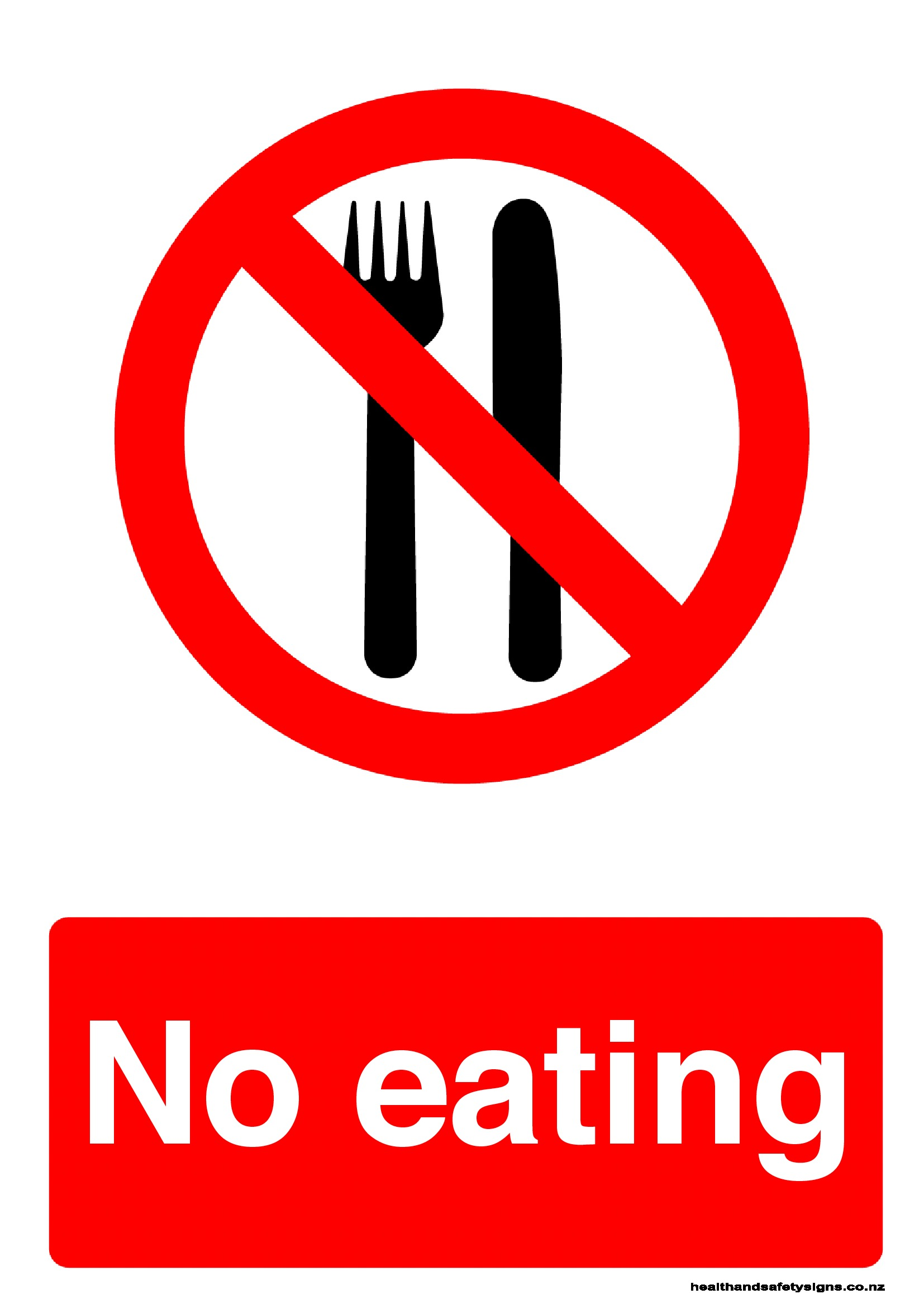 No Eating Prohibition Sign Health And Safety Signs