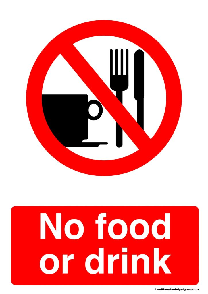 drink food sign signs prohibition safety poster clip clipart drinking eating health posters template templates acm